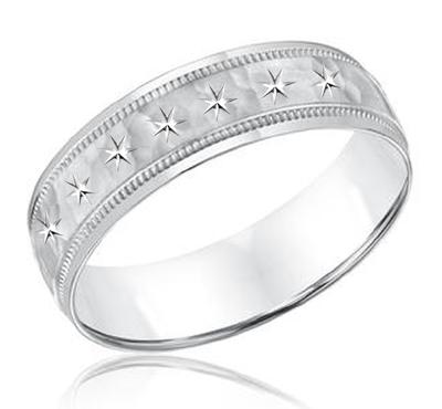 men's star wedding band