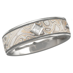 Mokume Kings Crown with narrow groove