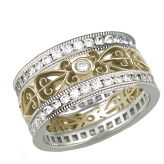 Two Channel Power of Love Wedding Band