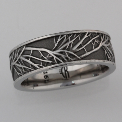 dark tree of life wedding band