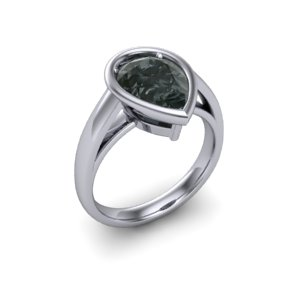 black pear diamond ring bezel