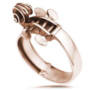 Cello Ring in rose gold