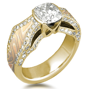 borealis engagement ring yellow gold