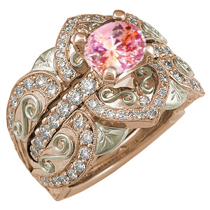Belle Epoque Engagement Ring and Enhancer Rose Gold
