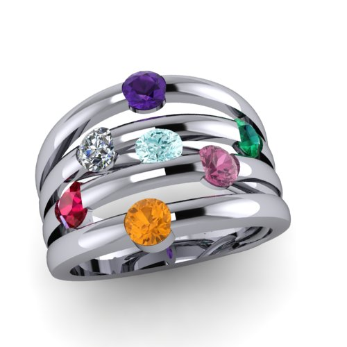 contemporary family mothers ring