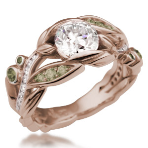 Flower Trellis Engagement Ring