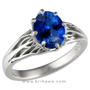 large blue sapphire tree of life
