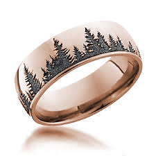 Tree Band Rose Gold