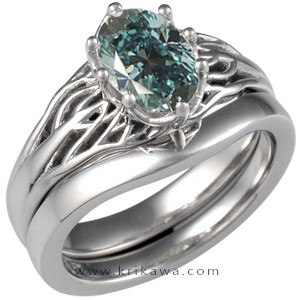 tree of life blue diamond