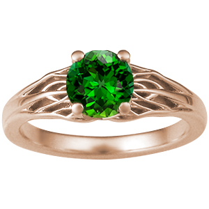 Rose Gold Tree of Life Green Tourmaline