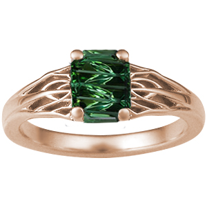 Rose Gold Tree of Life ZigZag Tourmaline