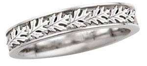 womens oak leaf wedding band