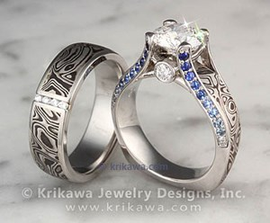 mens band flat custom wedding platinum s rings and mokume men