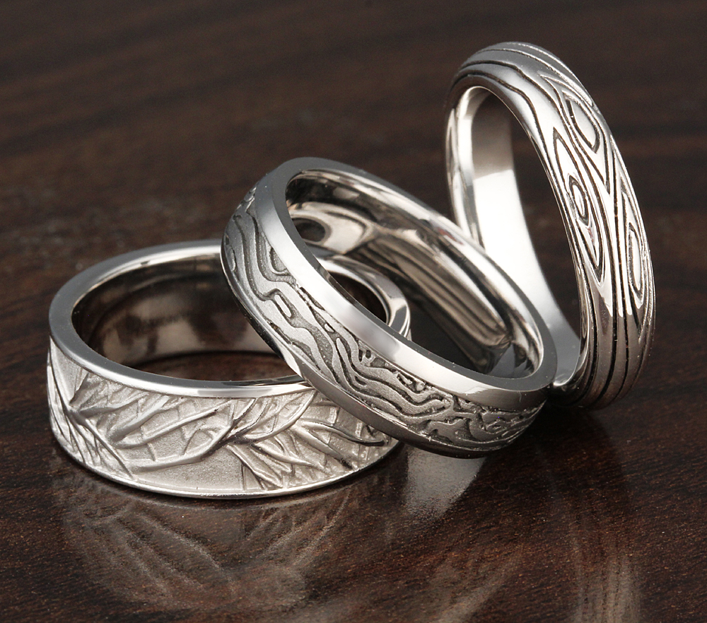 tree wedding bands