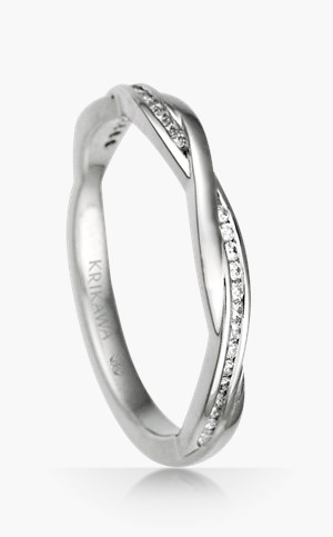 channel diamond twist wedding band - Creative Wedding Rings