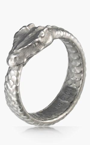 Dragon Creature Wedding Rings