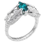 lab created marquise emerald engagement ring