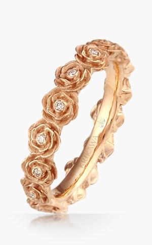 Fl And Flower Wedding Rings