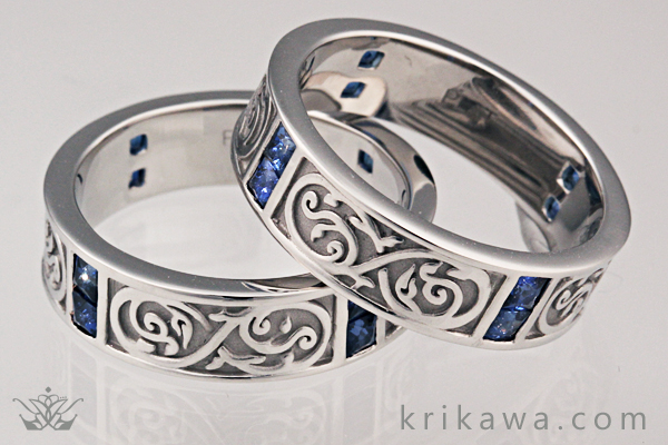 Mens Infinity Symbol Wedding Bands at Krikawa