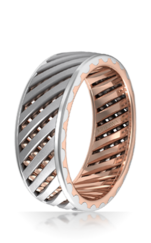 Lattice Work Wedding Band