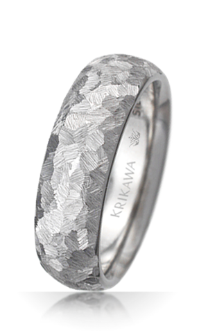 Machinist Texture Wedding Band