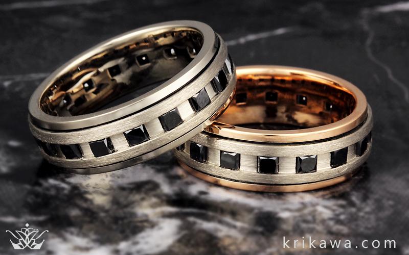 Mens Diamond And Sapphire Rings