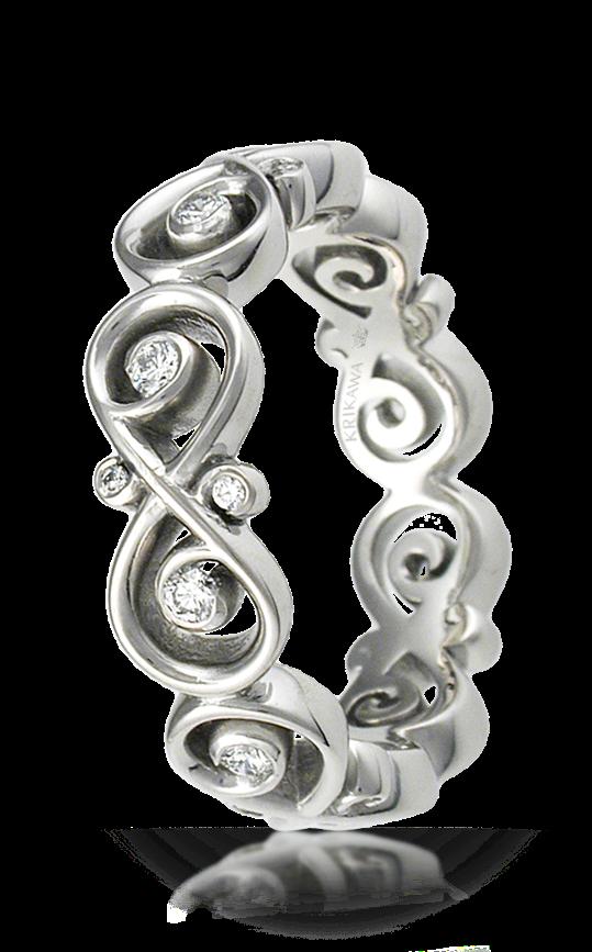 infinity wedding rings. ornate infinity diamond wedding band rings
