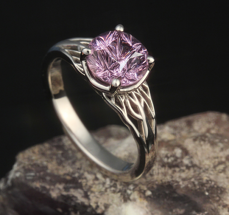 purple spinel engagement ring