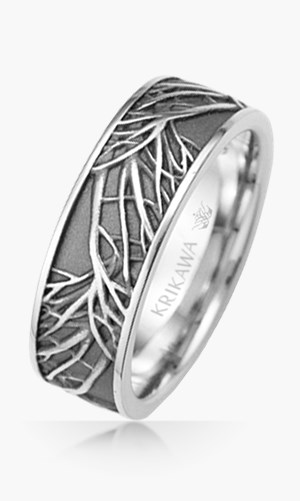 tree of life wedding rings - Nature Inspired Wedding Rings