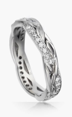 delicate vine and leaf wedding rings - Nature Wedding Rings