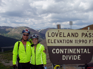 Krikawa couple at the continental divide