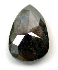 Rose Cut Black Pear Shaped Diamond
