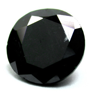 Round Black Diamond for Engagement Ring