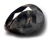 Pear Shaped Black Diamond