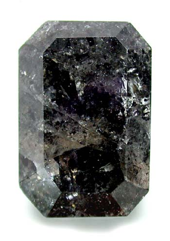 Large Emerald Cut Black Diamond