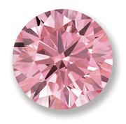 lab created round pink diamond