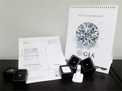 Diamonds and GIA Certificate