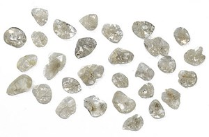 natural diamond slices
