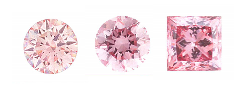 Lab Created Pink Diamonds