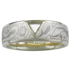 Diamond Macle Men's Wedding Band