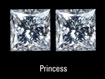princess cut matched pair