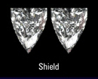Shield shape diamond pair