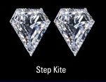 Step Cut Kite Pair