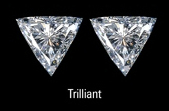 Trilliant Triangle Trillion Diamond Pairs
