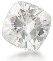 Moissanite, a type of lab created diamond