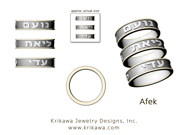 custom jewelry rendering with symbol