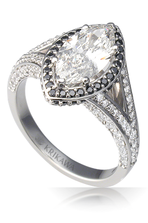 Classic Split Shank Marquise Halo Engagement Ring