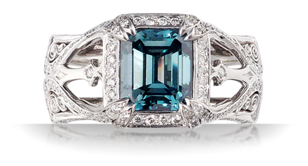 Luxury Belle Epoque Scaffolding Engagement Ring