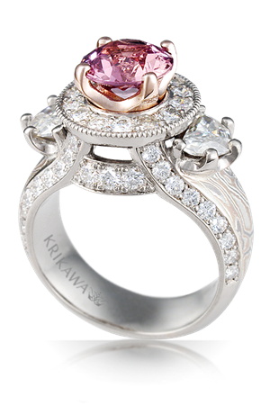Luxury Three Stone Juicy Goddess Engagement Ring