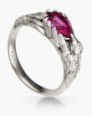nature engagement rings bird - Nature Wedding Rings